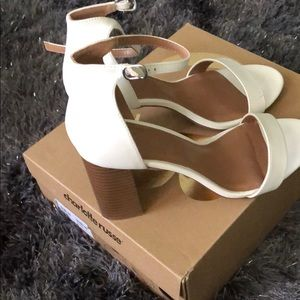White Monica styled heels